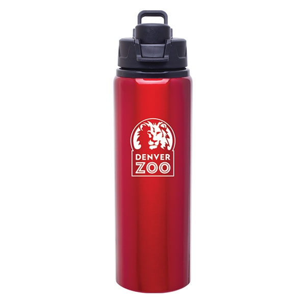 Logo Snap Lid Bottle Red