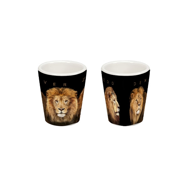 Lion Faces Shot Glass