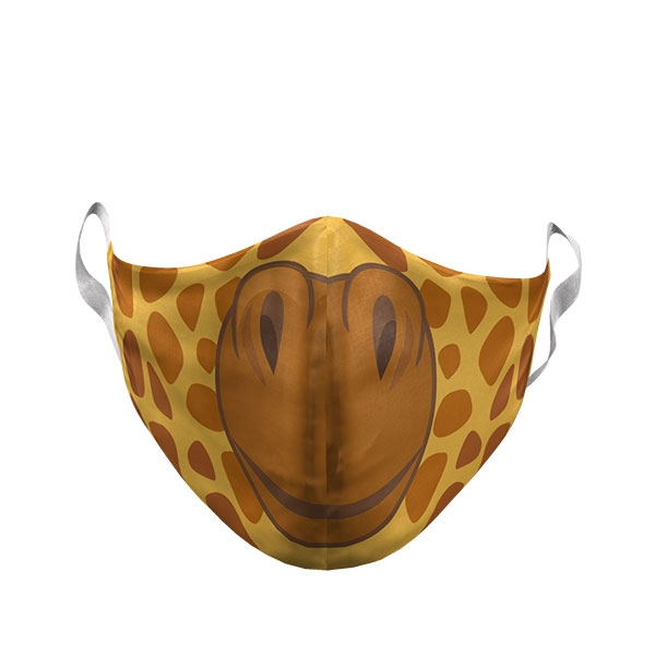 TODDLER CARTOON GIRAFFE FACE MASK