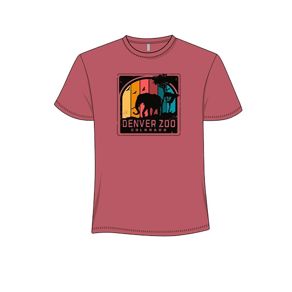 Adult Short Sleeve Tee Spectrum Elephant