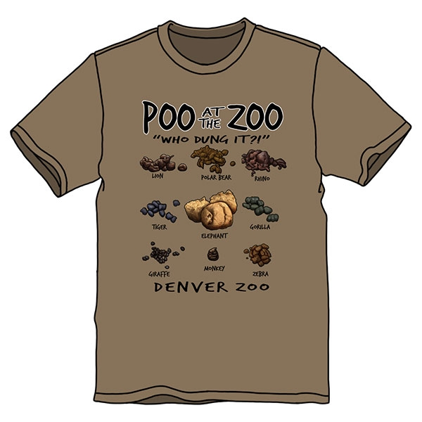 Adult Short Sleeve Tee Poo at the Zoo