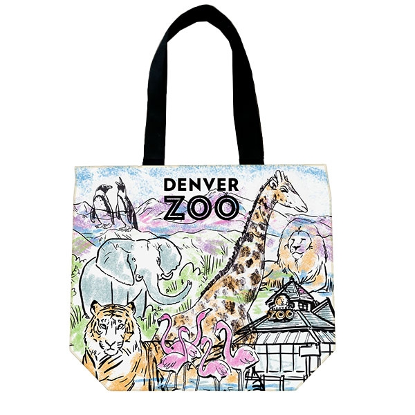 Denver Zoo Watercolor Tote