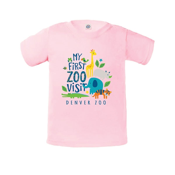 Infant Short Sleeve Tee My First Visit Soft Pink