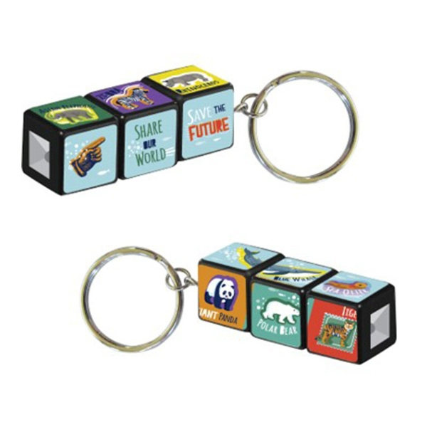 Save the Future Puzzle Cube Keychain