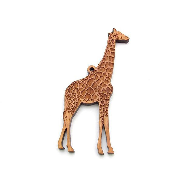 Wooden Giraffe Ornament