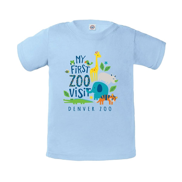 Infant Short Sleeve Tee My First Visit Sky Blue
