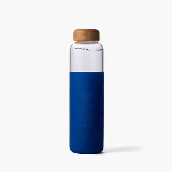 SOMA SAPPHIRE GLASS WATER BOTTLE