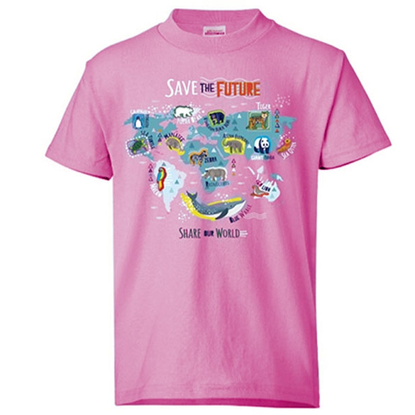 Youth Short Sleeve Tee Eco Save the Future Light Pink