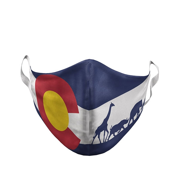 ADULT LARGE DENVER ZOO COLORADO FLAG MASK