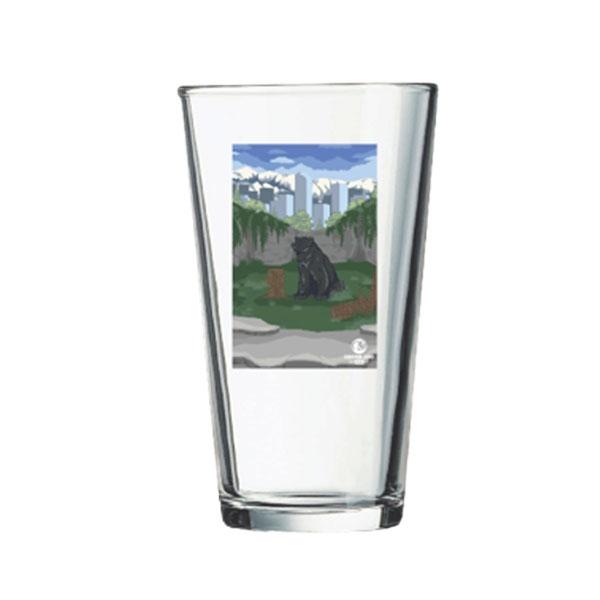 BLACK BEAR PINT GLASS