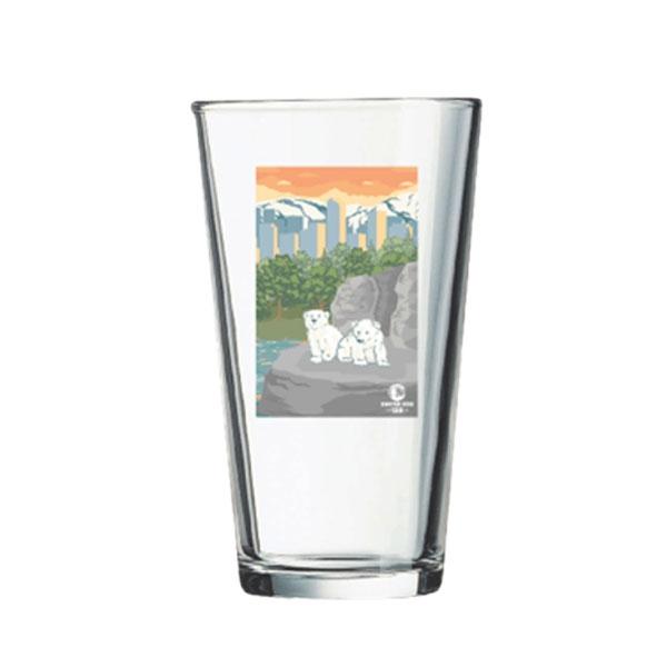 POLAR BEAR SIBLINGS PINT GLASS