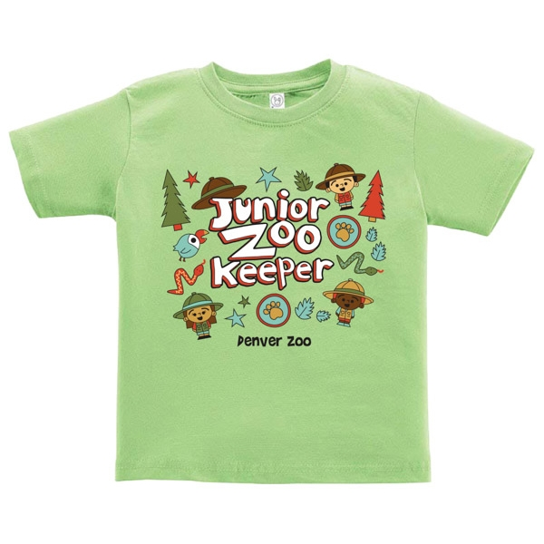 Toddler Short Sleeve Tee Junior Zookeeper Lime