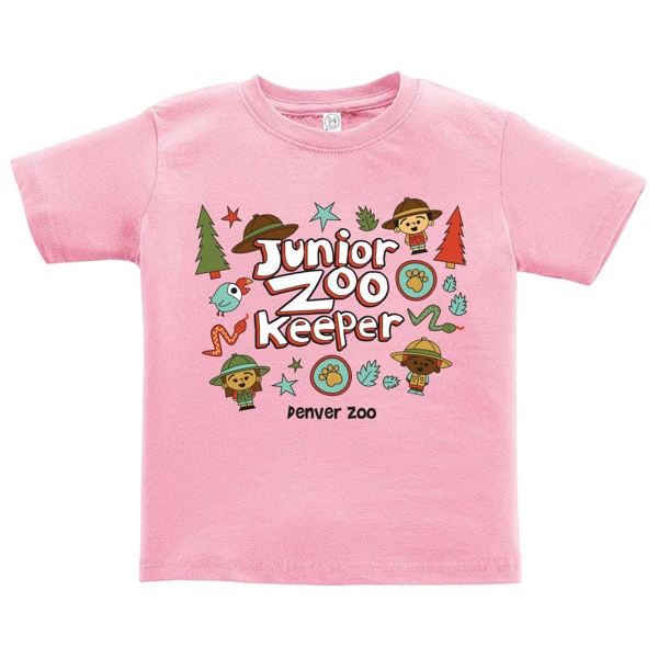 Infant Short Sleeve Tee Junior Zookeeper Pink