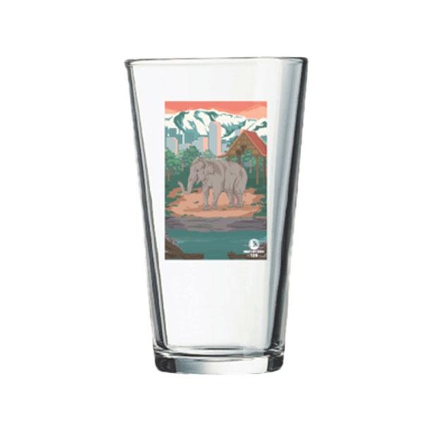 ASIAN ELEPHANT PINT GLASS