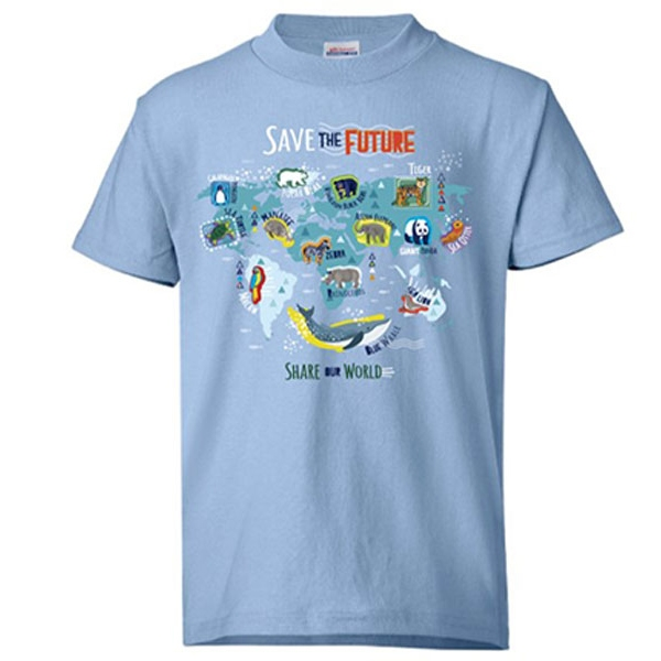 Youth Short Sleeve Tee Eco Save the Future Blue
