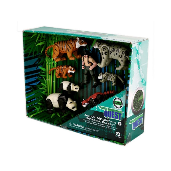Asian Mountain Quest Movable Animal Play Set