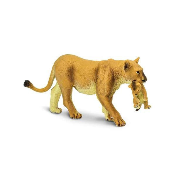LIONESS WITH CUB FIGURE