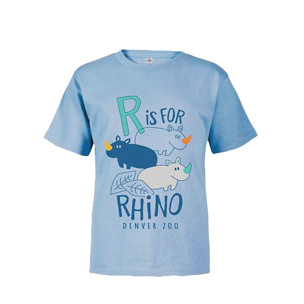 Toddler Short Sleeve Tee R is for Rhino