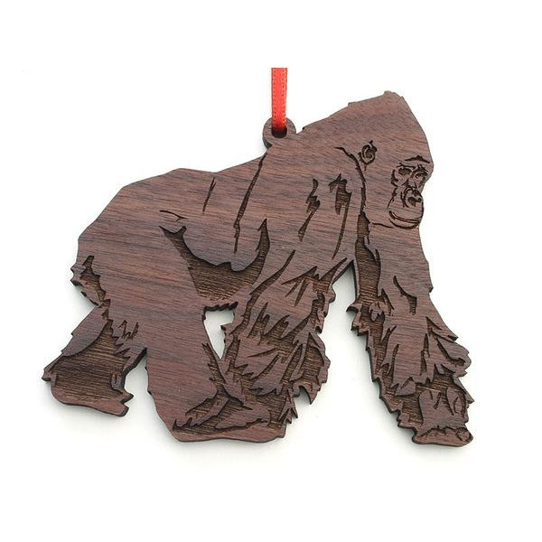 Wooden Gorilla Ornament