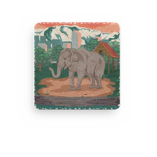 ASIAN ELEPHANT STONE COASTER