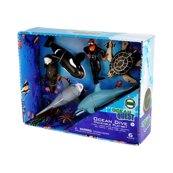 Ocean Quest Movable Ocean Dive Playset
