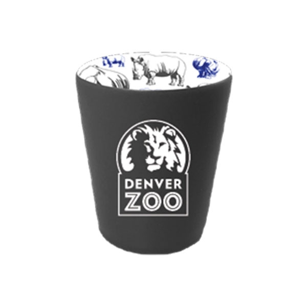 Rhino Repeat Pattern  Logo Shot Glass