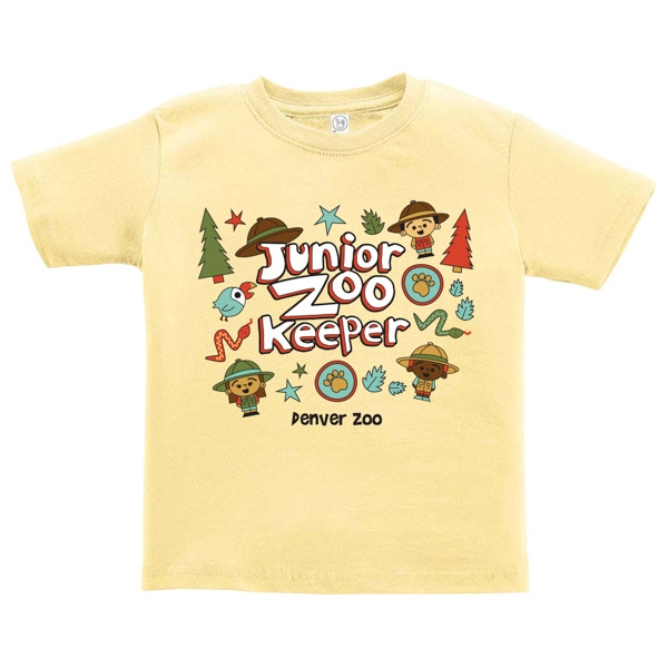 Toddler Short Sleeve Tee Junior Zookeeper Banana