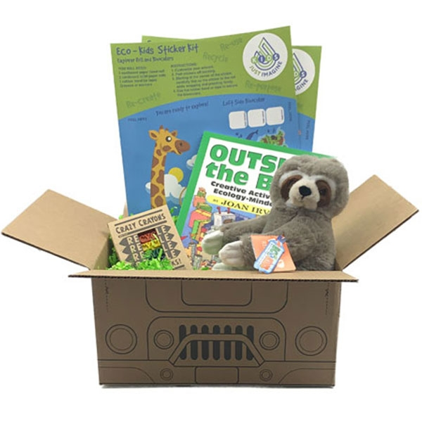 JUST IMAGINE UPCYCLED SLOTH PLUSH BOX