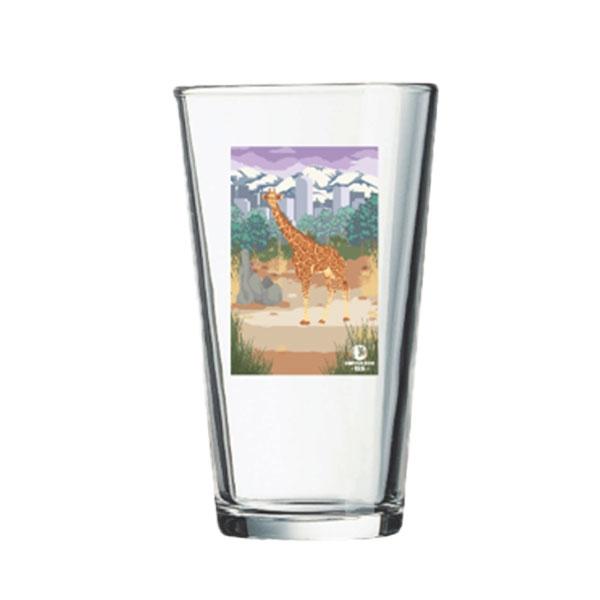 GIRAFFE PINT GLASS