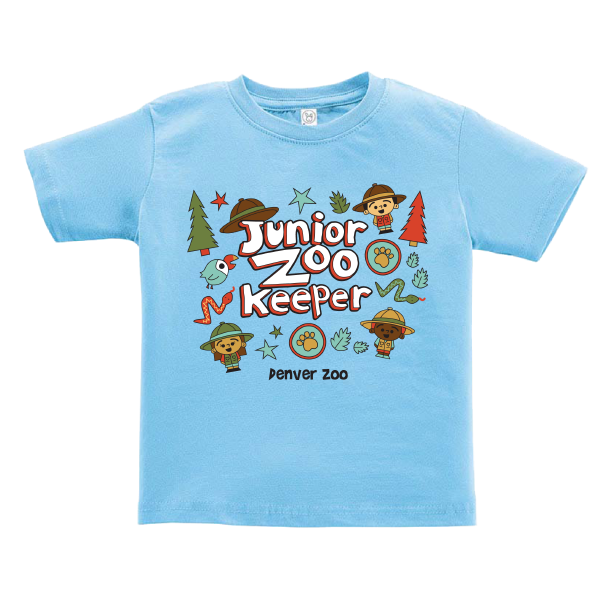 Infant Short Sleeve Tee Junior Zookeeper Light Blue