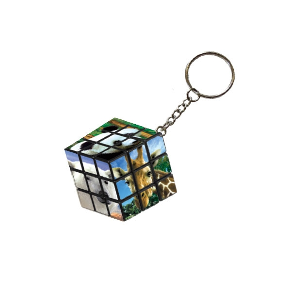 Animal Photo Keychain Puzzle Cube