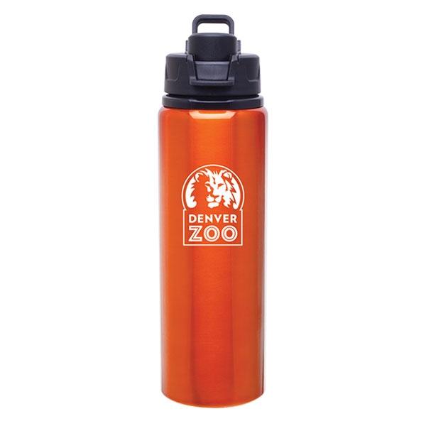 Logo Snap Lid Bottle Orange