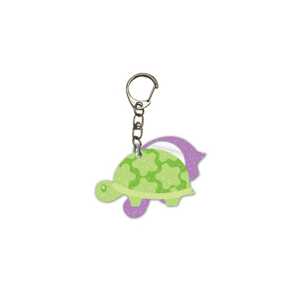GLITTER TURTLE KEYCHAIN WITH MIRROR