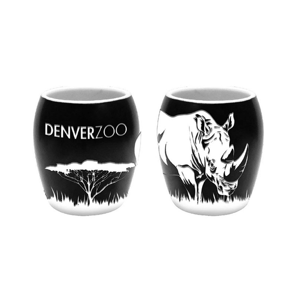 Etched Rhino Scene Shot Glass