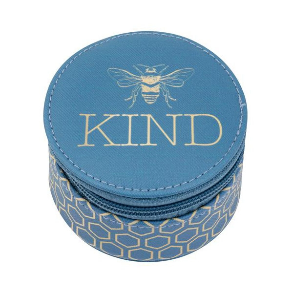 Bee Kind Round Travel Case