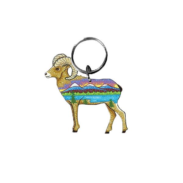Bighorn Sheep Keychain